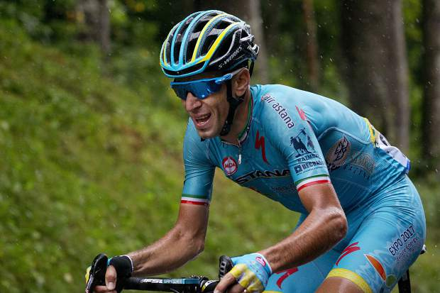 Italy's Vincenzo Nibali rides during the twentieth stage of the Tour de France cycling race in July 2016.
