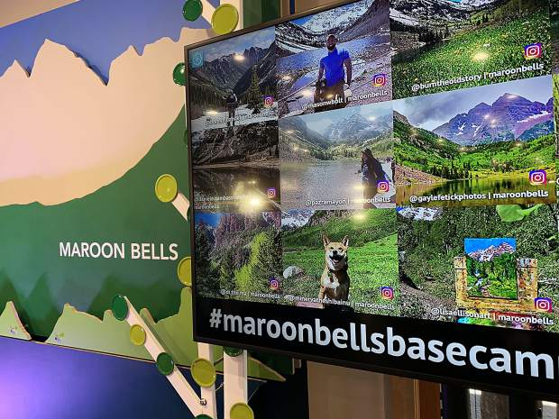 Aspen Skiing Co. provided some local media members with an e-bike ride to the Maroon Bells on Tuesday, July 9, 2019, as part of a celebration of the opening of the new Maroon Bells Basecamp at Aspen Highlands.