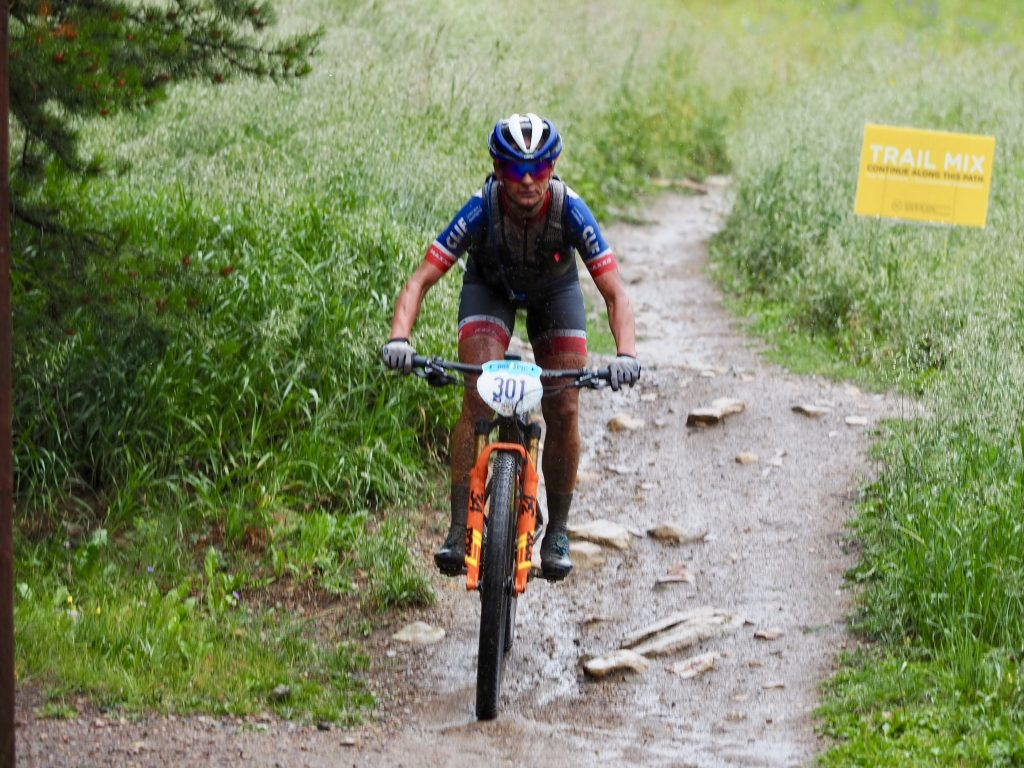 Katerina Nash of the Czech Republic bikes a portion of the 36-mile Pennsylvania Creek stage during Sunday's first day of the 6-day Breck Epic mountain bike race. Nash won the stage and leads all women entering Monday.