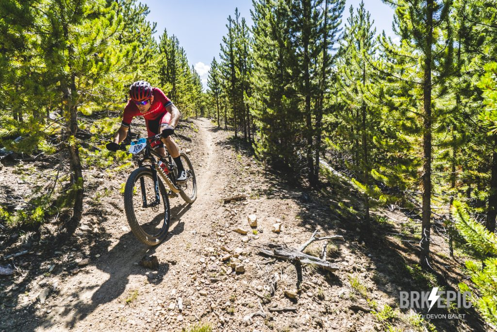 Daniel Munoz rides singletrack during the fourth stage of this year's six-day Breck Epic mountain bike race, the 41-mile Aqueduct.