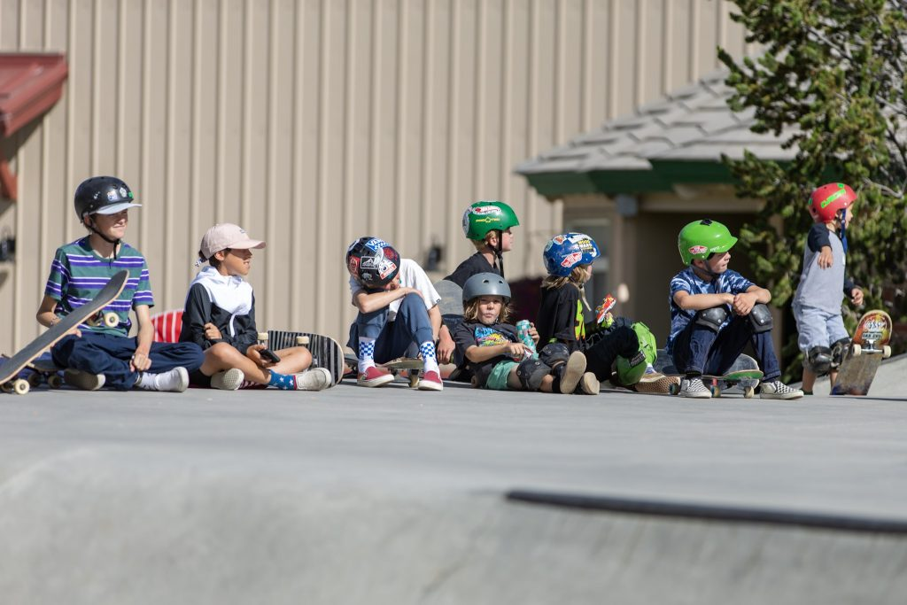 Kids aged 14 and under compete in the Battle Royal Skateboarding competition on Saturday, Aug. 31, at the Breckenridge skatepark in Breckenridge, Colo.