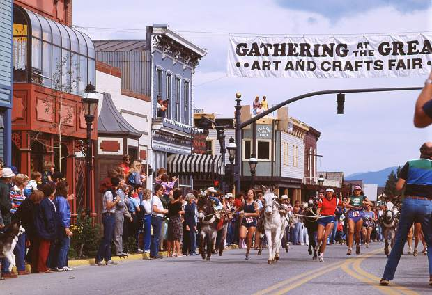 The Gathering at the Great Divide Art Festival has been happening in Breckenridge for 44 years. This is a scene from the festival in the early 1980s.