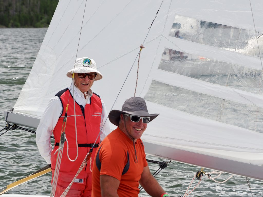 Members of helm Hans Bucher's Elusive boat in the Star Fleet racing division sail their way to a third-place finish during this past weekend's 2019 Dillon Open of sailing on Lake Dillon.
