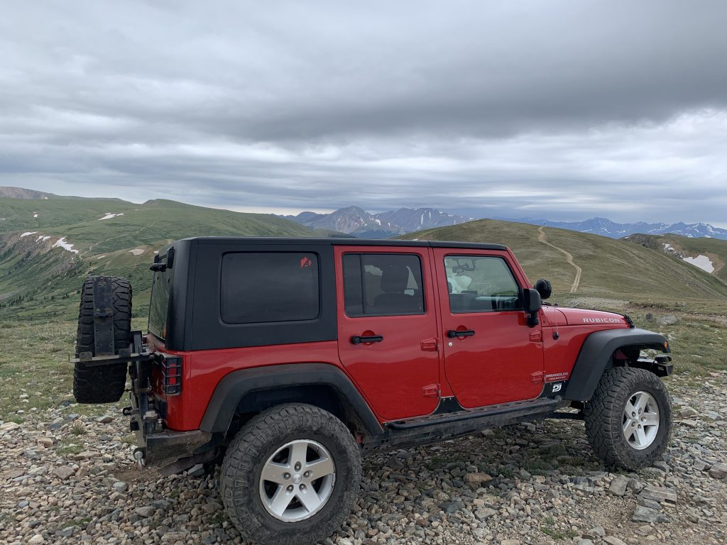 A view of Bob Pietrzyk's Rubicon while riding the Saints John Jeep road on Aug. 10.