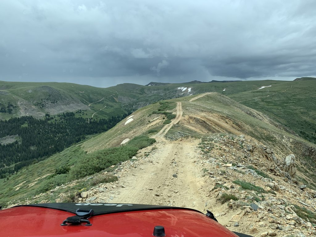 A view of the ridgeline road while riding the Saints John Jeep road on Aug. 10.