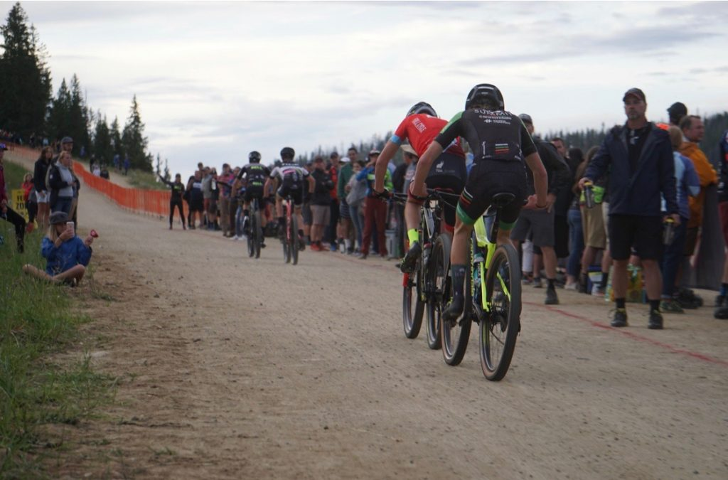 Lasse Konecny of Breckenridge attempts to catch a competitor during last month's USA Cycling Mountain Bike National Championships in Winter Park.