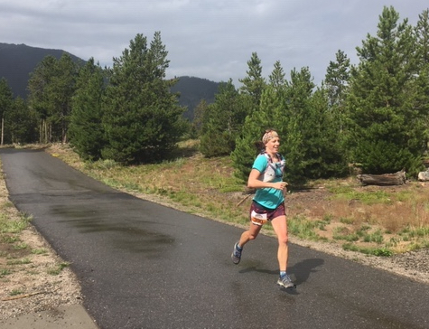 Kelsy Maxie runs the rec path during Saturday morning's Run the Rockies trail 10K and half-marathon. Maxie, 29, won the half-marathon in the 43-runner women ages 20 to 29 division with a time of 2 hours, 3 minutes and 11 seconds.