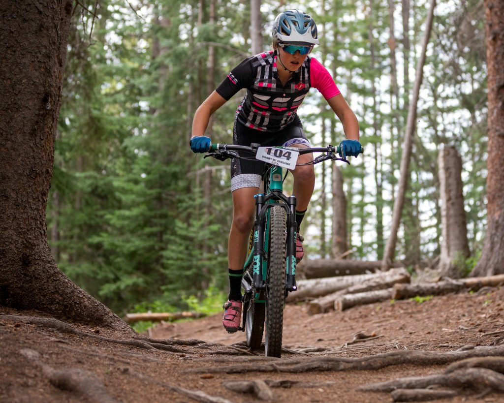 Samantha Hessel of Breckenridge competes during the Summit Mountain Challenge Peak Trail Time Trial on Wednesday, Aug. 21 in Breckenridge.