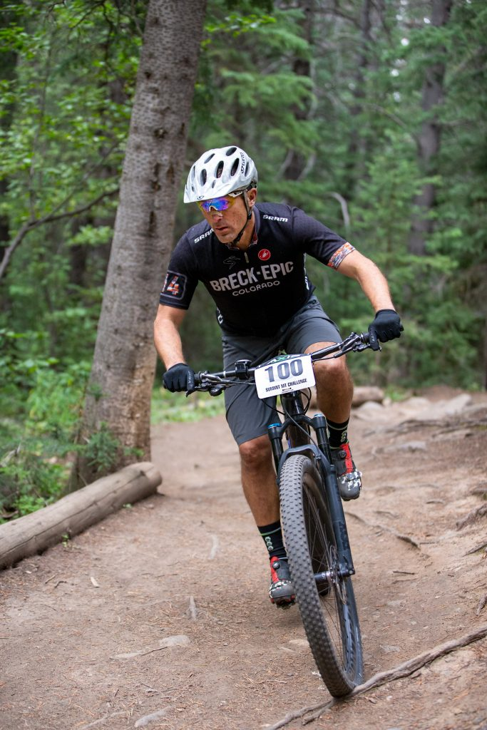 Todd Greenwood of Breckenridge competes during the Summit Mountain Challenge Peak Trail Time Trial on Wednesday, Aug. 21 in Breckenridge.