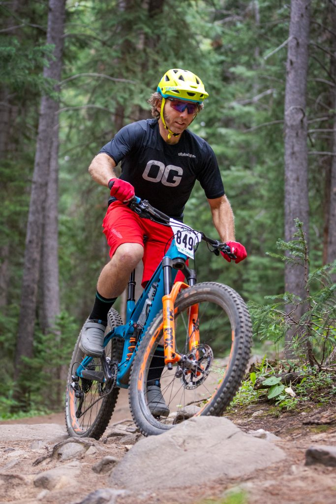 Damon Gilbert of Scotts Valley competes during the Summit Mountain Challenge Peak Trail Time Trial on Wednesday, Aug. 21 in Breckenridge.