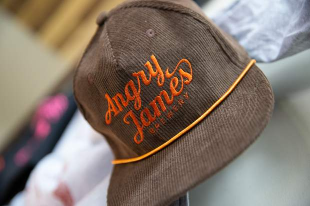 Angry James Brewery has a full line of new merchandise featuring a new version of their logo.