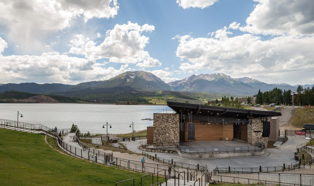 Taken on Aug. 13, 2019 in Dillon, Colo., the outdoor music venue, The Dillon Amphitheater is scheduled for concrete renovations this fall.