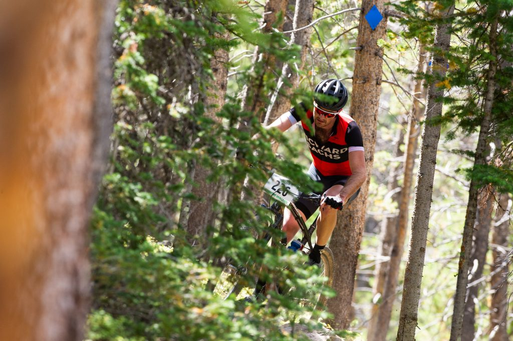 Sam O'Keefe of Breckenridge rides through singletrack trail during Sunday's Fall Classic 30-mile mountain bike race. O'Keefe took third place with a time of 2:21:25 on the 4,800-foot elevation-gain course.