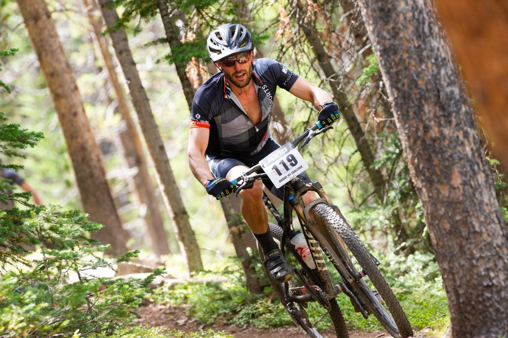 Dominic Baker of Breckenridge rides through singletrack trail during Sunday's Fall Classic 30-mile mountain bike race. Baker took seventh place in the pro-open men's division with a time of 2:28:55 on the 4,800-foot elevation-gain course.