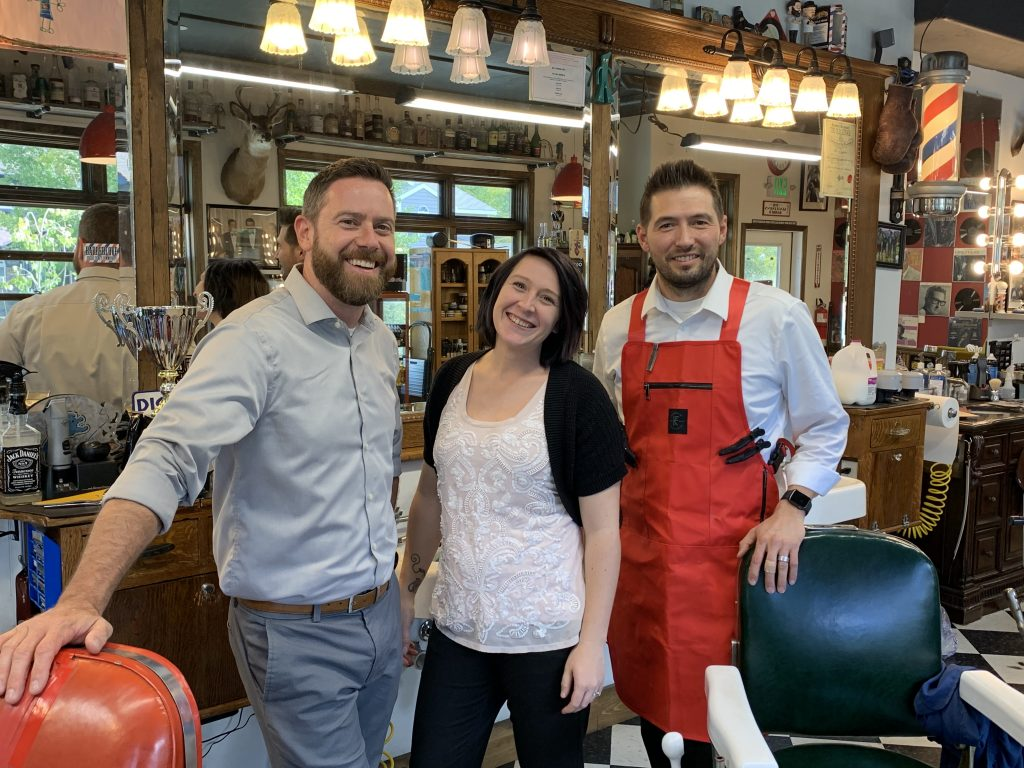 The team at Gentleman's Barbershop in Frisco. From left are Steve Martin, Sara St. Laurent and Scott Lemme.