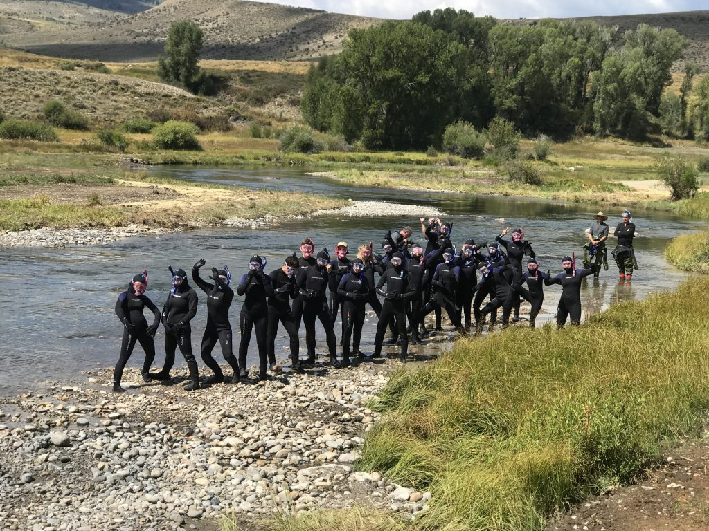 Summit High School biology students worked with U.S. Forest Service fisheries biologists and Blue Valley Ranch to survey fish and macroinvertebrate populations in the Blue River.