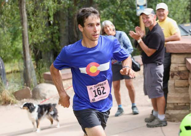 Aspen's Noah Hoffman, a retired cross-country skier and two-time Olympian, comeptes in the Aspen Backcountry Marathon earlier this summer.