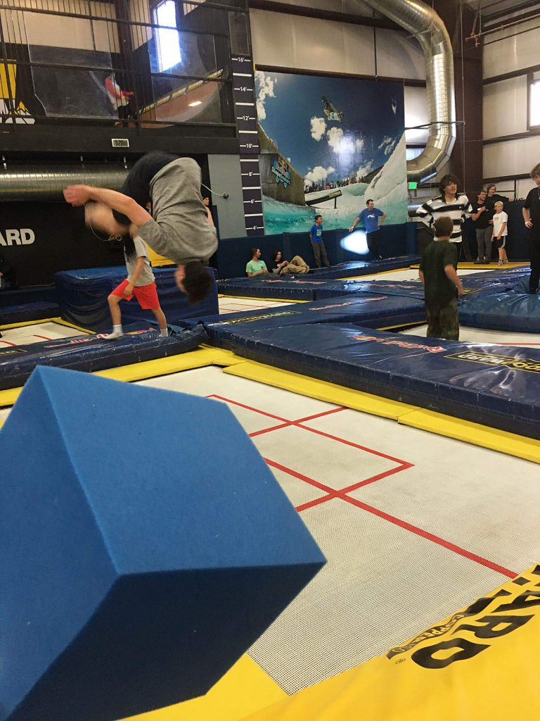 The Woodward Barn at Copper Mountain celebrates its 2019 winter season open in November 2019 unveiling a new spring floor and 8,000 new foam cubes. Freestyle athletes use the barn as an indoor training facility.