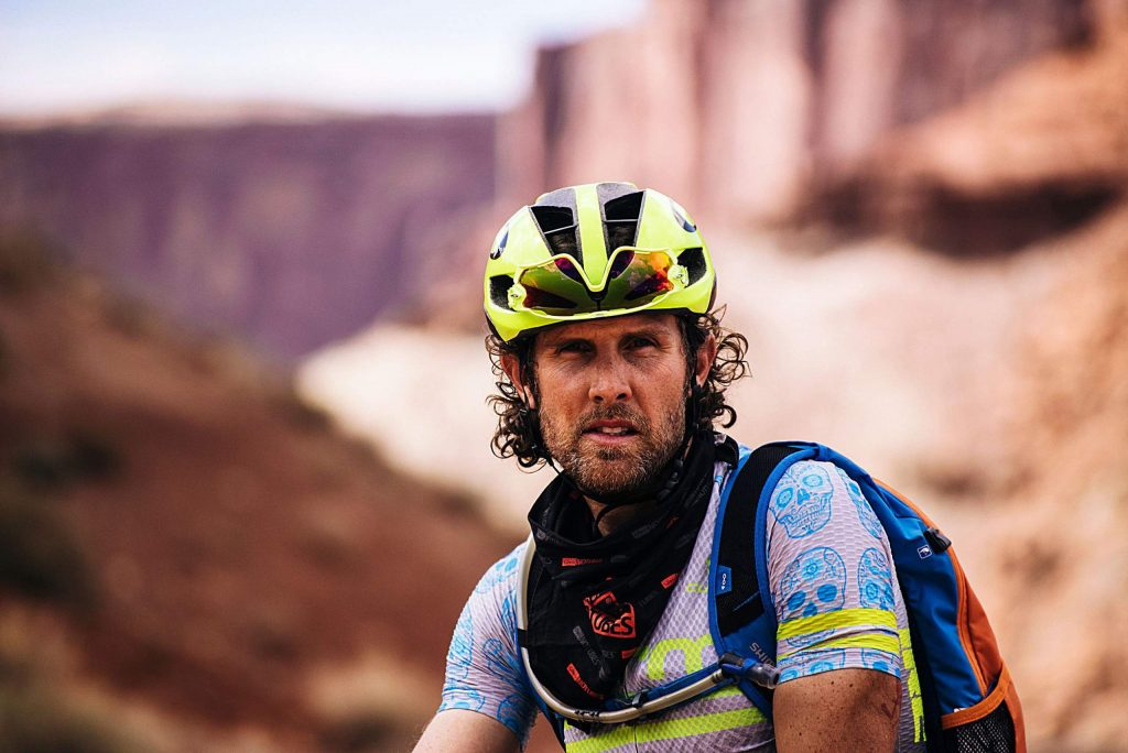 Jake Wells was a professional cyclocross racer before exploring ultra endurance bike racing. In 2017, he finished second of 828 in the 200-mile Dirty Kanza, a performance which helped him gain entry into the 350-mile DKXL, which is the subject of the new film