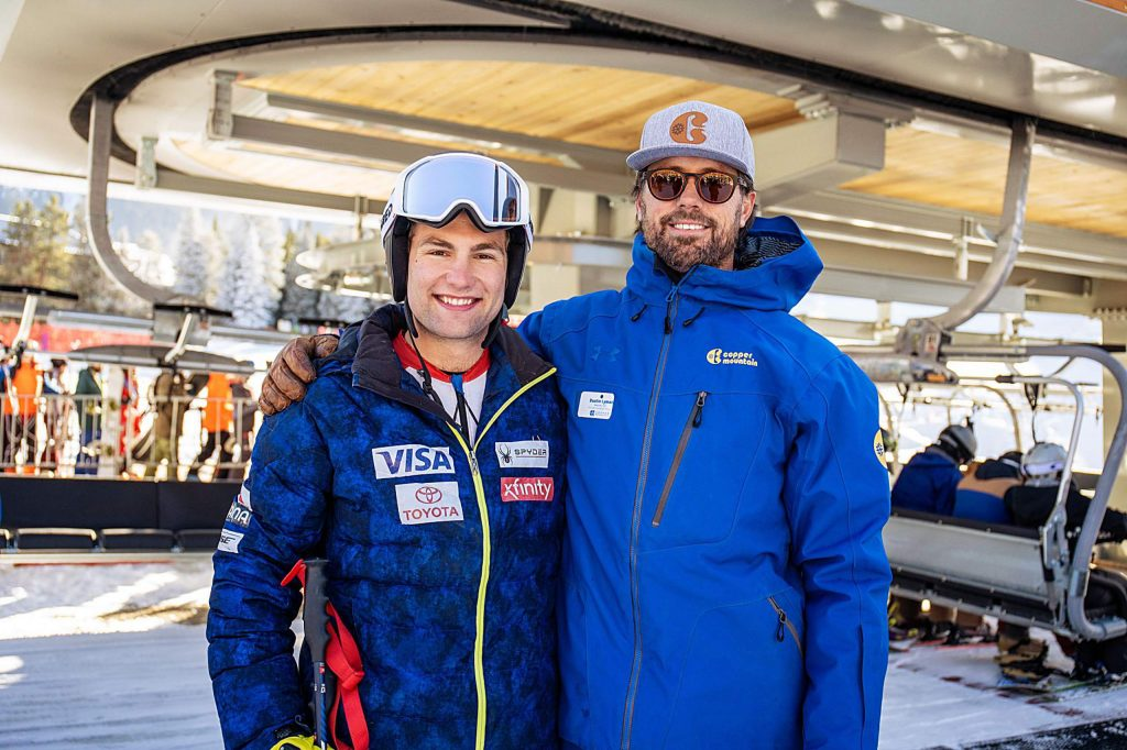 Vail ski racer Kyle Negomir, left, is seen at Copper Mountain Resort on Friday. Negomir is set to compete on the World Cup this season after winning the North America Cup last season.