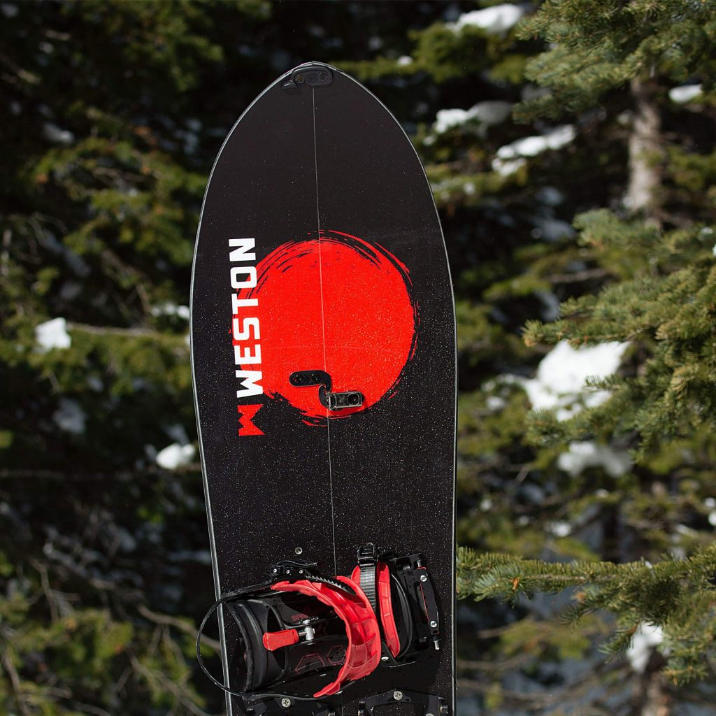 The Weston Japow splitboard was the highest-rated men's board of Backcountry Magazine's 2019-20 splitboard test and earned the magazine's Editor's Choice award.