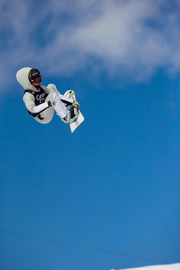 Canada's Laurie Blouin smiles after finishing second in the women's snowboard slopestyle on Saturday, Jan. 25, 2020. (Kelsey Brunner/The Aspen Times)