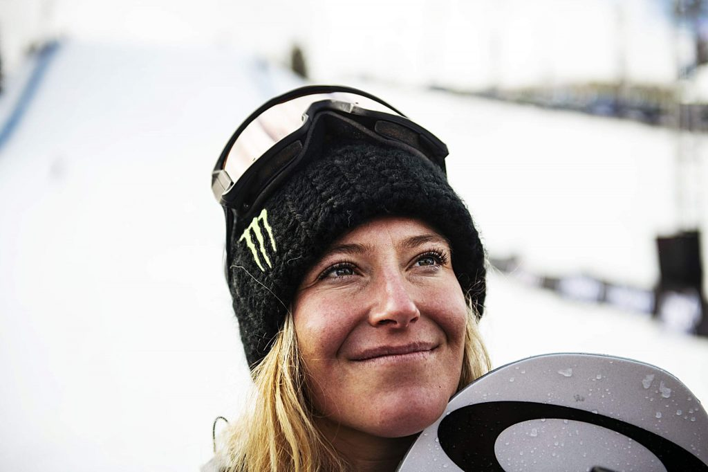 X Games gold medalist Jamie Anderson gives an interview after the women's snowboard slopestyle final on Saturday, Jan. 25, 2020. (Kelsey Brunner/The Aspen Times)
