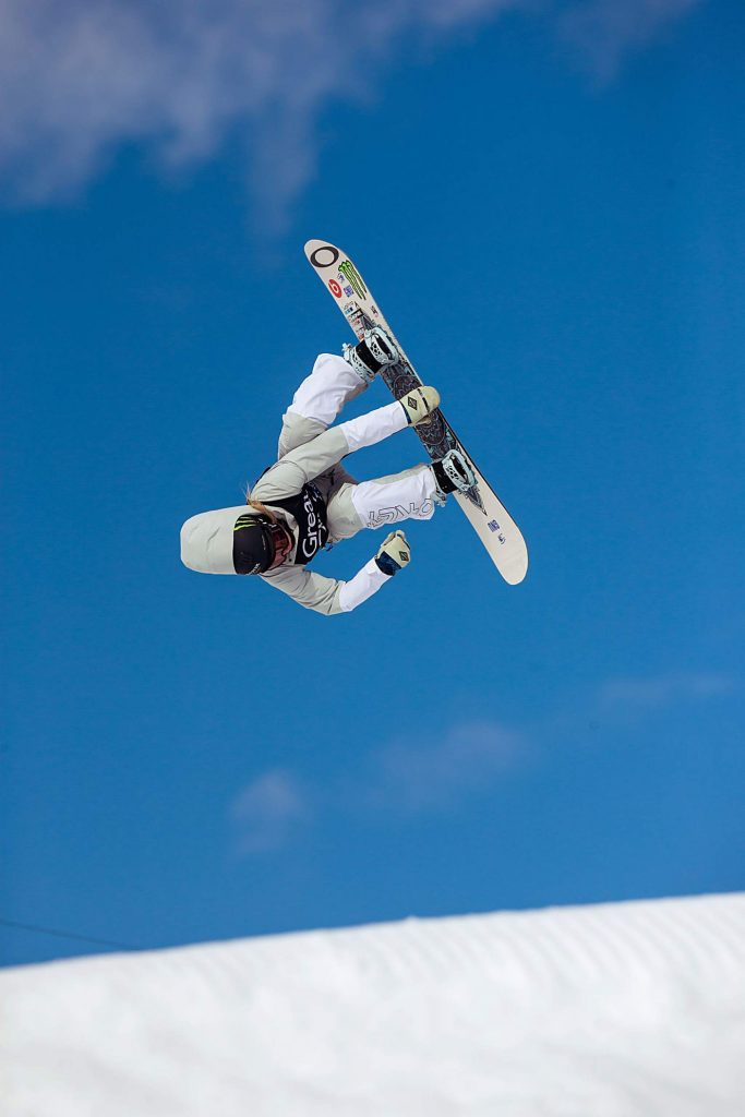 Jamie Anderson takes home the gold medal in the women's snowboard slopestyle final at X Games Aspen on Saturday, Jan. 25, 2020, at Buttermilk Ski Area in Aspen Snowmass, Colo. (Liz Copan/Summit Daily News via AP)