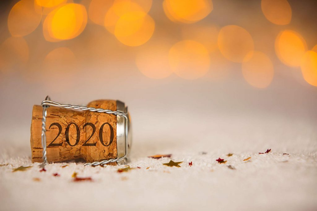 Happy New Year 2020 Cork on the Snow