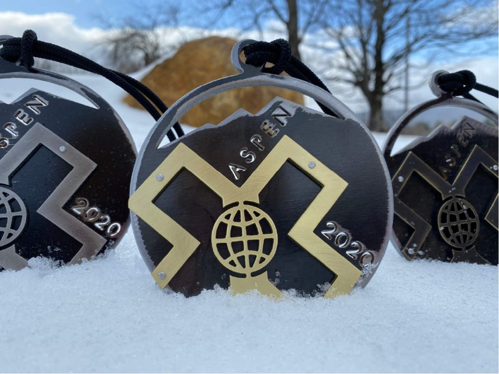 Ridgway artist Lisa Issenberg made this year's medals for X Games Aspen, which gets underway Thursday at Buttermilk Ski Area.