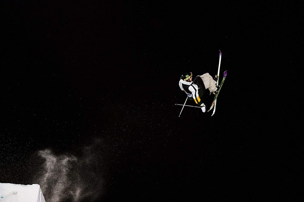 X Games skier Henrik Harlaut competes in the men's ski big air event on Friday, Jan. 24, 2020. Harlaut took home the gold.