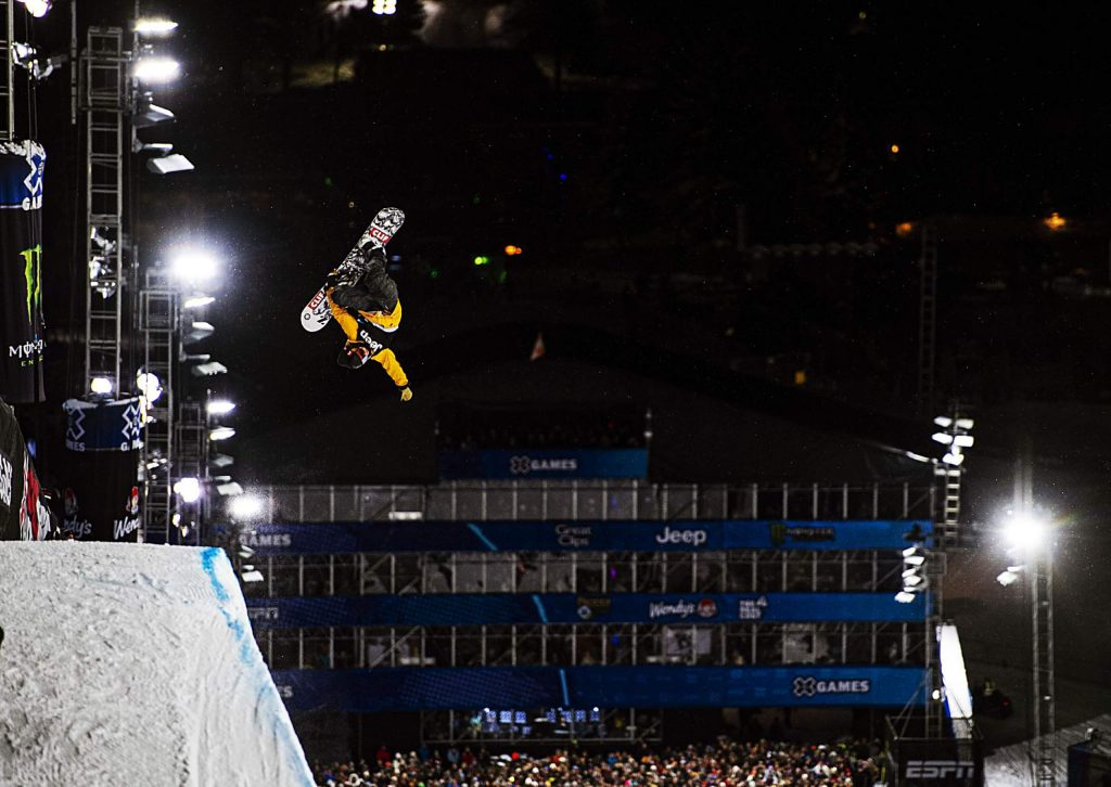 Taylor Gold competes the men's snowboard superpipe final on Thursday, Jan. 23, 2020.