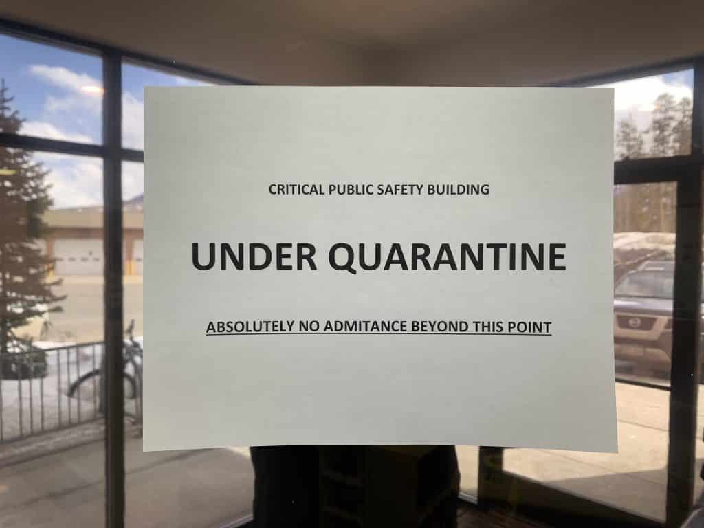 The emergency operations center in Frisco is under a strict quarantine to help protect the health of emergency management and public health officials.
