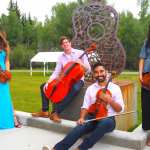 The NRO Alumni String Quartet (pictured in Silverthorne) will perform for Encore's mini concert. Photo by Elaine Collins