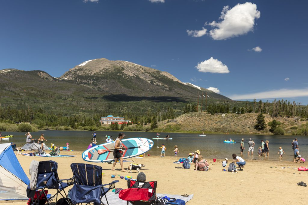 Frisco Bay Marina has a variety of fun activities for the family on the shores of Lake Dillon. (Photo by Todd Powell, Courtesy of Town of Frisco)