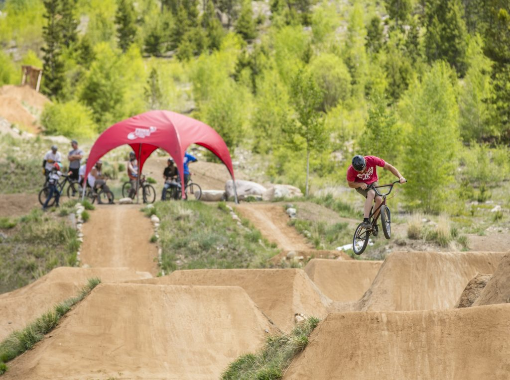 The bike park at Frisco Adventure Park offers fun for bikers of all ages. (Photo by Todd Powell, Courtesy of Town of Frisco)