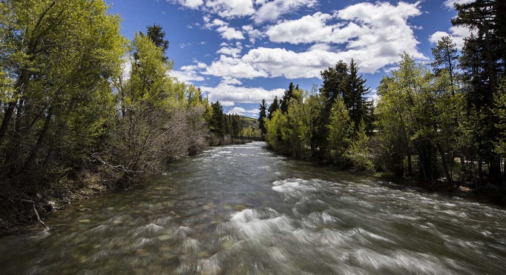 The Blue River flows through the center of Silverthorne. (Photo courtesy of Town of Silverthorne)
